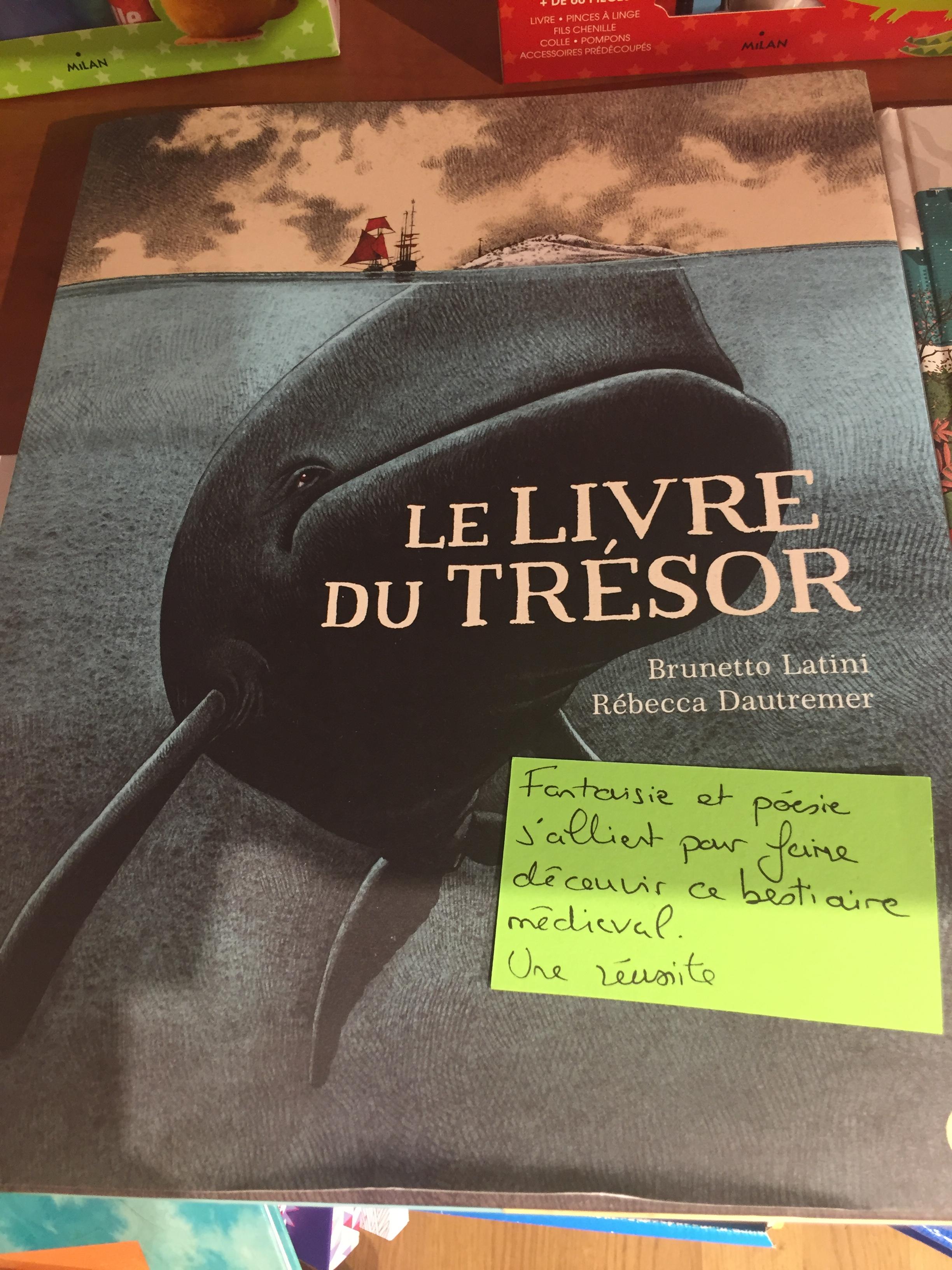 Le livre du trésor_Gibert printemps nation