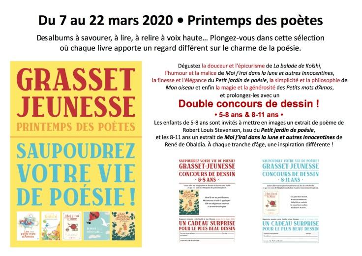 Saupoudrez votre vie de poésie avec Grasset-Jeunesse - 2020